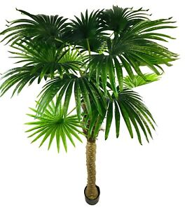 Artificial Fan Palm Tree Realistic Fake Plant Potted Indoor Outdoor Decor 190cm