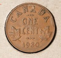 1930 Canada Penny - Nice Key Date - H-29