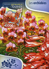 Guinea 2015 MNH Orchids 1v S/S Flowers Flora Nature Euanthe sanderiana