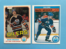 Mark Messier 1981-82 and 1982-83 - Two Hockey Card Lot Edmonton Oilers