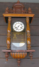 ANTIQUE WALL CLOCK MADE BY ADLER GONG NEEDS SOME WORK !!