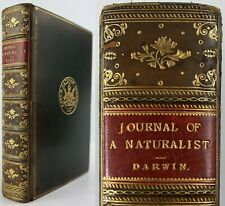 1900*CHARLES DARWIN*NATURALIST VOYAGE*JOURNAL OF RESEARCHES*CALF LEATHER*GEOLOGY
