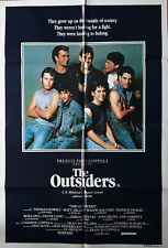 The Outsiders Patrick Swayze Tom Cruise Original Cinema Release 1S Movie Poster