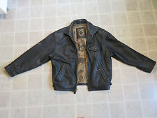 Vtg EUROPE CRAFT Riding JACKET Mens S/M Black Motorcycle Members Only Coat 80s