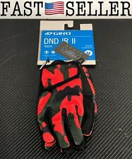 Giro Cycling Gloves Glove Dnd Jr II Red Breathable Robust Protecting Red Camo M