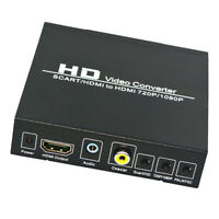 720/1080P SCART to HDMI Composite Video Scaler Converter Audio Adapter for DVD