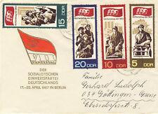 Ersttagsbrief DDR MiNr. 1268-1271, Parteitag der Sozialistischen Einheitspartei