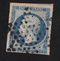 EMPIRE  N°14Af  ( BLEU LAITEUX ) oblitéré étoile de Paris CV : 15 €