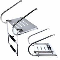 2 Steps in-Board  Stainless Steel Boat Swim Platform Ladder High Strength ABS