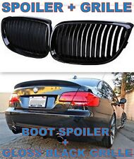 BMW E92 SPOILER + GLOSS GRILLE 3 SERIES BOOT WING TRUNK M3  REAR PERFORMANCE LIP