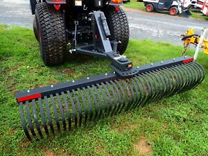 """BOBCAT 84"""" LANDSCAPE RAKE FOR COMPACT TRACTORS, 3 POINT HOOK UP, VERY LOW USE!"""