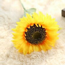 Home Decor Artifical Sunflower Fake Silk Flower Floral Single Stem Bouquet