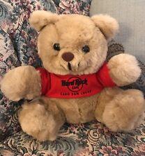 "Rare Hard Rock Cafe Red T-SHIRT Cabo San Lucas Logo 8.5"" Teddy BEAR Plush #C4"
