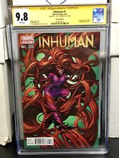 Inhuman #1 CGC SS 9.8 Signed Campbell Incentive Variant First App Lash & Inferno