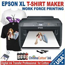 EPSON XL PRINTER REFILL INK SOLUTION FOR PRINT T-SHIRT  COTTON COMPLETE PACK