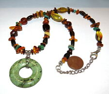Turquoise Pendant Baltic Amber Necklace 925 Sterling Southwest Genuine