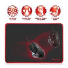 INSTEN® Tapis de souris Premium Pour Gamer Ordinateur PC Gaming, Rouge/Noir