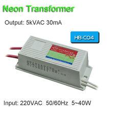 Neon Transformer 5KV30mA40W Load 4M Power Supply Ballast High Voltage Fire Maker