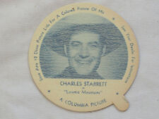 1952 DIXIE CUP NELSON'S Ice Cream CHARLES STARRETT TV Movie Star NM