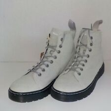 Dr Doc Martens TALIB WOOLY BULLY 8 Eye Suede Boot Gray WOMEN 9 US/7 UK FAST SHIP
