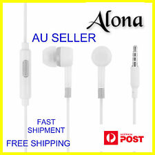 3.5mm White Headphone Earbuds Earphone Headset Mic for Android Iphone