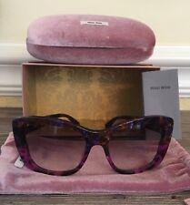 f475e799bd6 MIU MIU Purple Violet Marble Havana Gradient Sunglasses 03O