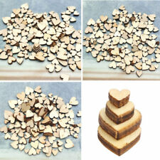 100pcs 4 Sizes Mixed Rustic Wooden Love Heart Wedding Table Scatter Decorations