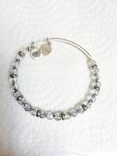Alex And Ani Silver Retro Glam Crystal Bracelet, Excellent