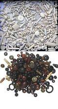 BONE BEAD MIX 100 grams/ Wide ASSORTMENT of Shapes/Size/Colors/Design/Texture
