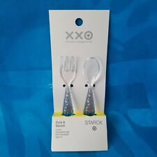 """NEW! PHILIPPE STARCK for TARGET - PLASTIC FORK and SPOON SET 4.2"""""""
