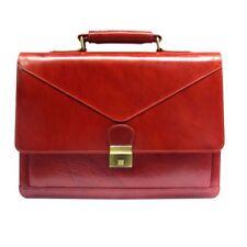 Cowhide Leather Briefcase Man's Small Shoulder Cross body Bag Messenger Satchel