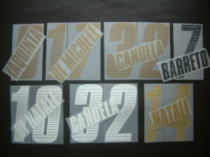 KIT NOME+NUMERO UFFICIALE UDINESE HOME/AWAY 2005-2007 OFFICIAL NAMESETS PL SZ