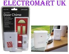WIRELESS CORDLESS PORTABLE DOOR BELL 8 SELECTABLE CHIMES 120M RANGE