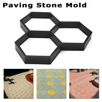 Driveway Paving Pavement Mold Patio Concrete Stepping Stone Path Walk