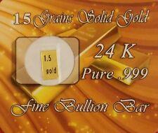 Lingot 1,5 grain or pur 24 carats k ct oro gold lingotin gr