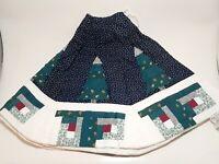 Sarah Peabodys Inheritance Quilted Christmas Tree Skirt Log Cabin 100% Cotton