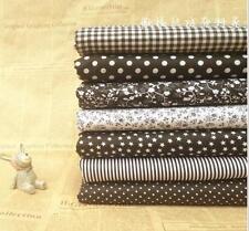 "Craft 7 Assorted Pre Cut Charm 10"" Squares Quilt DIY Cotton Fabric black"