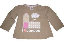 Zara hübsches Langarm Shirt Gr. 68 beige mit Wolkenmotiv !!