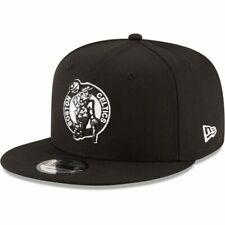 Boston Celtics New Era 9Fifty Black on White Logo Adjustable Snapback Hat Cap