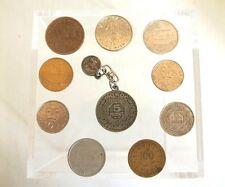 10 pièces de monnaie Polynésie, Nouvelle-Calédonie, Maroc, Tunisie, Costa Rica