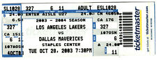 2003 LUKE WALTON debut ticket LOS ANGELES LAKERS vs DALLAS MAVERICKS