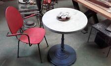 table de bistrot pieds en fonte et bois