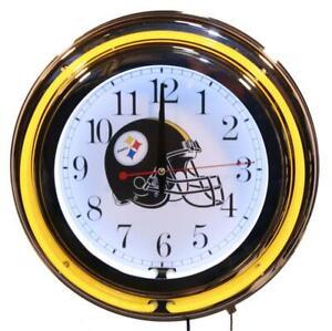Lifestyle Lighting Pittsburgh Steelers Double Neon Clock