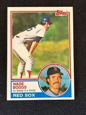 1983 Topps Wade Boggs Rookie RC #498 NM-MINT HOF Boston Red Sox *65