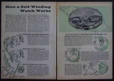 Self Winding Watch action Bulova Benrus Greun 1961 pictorial Felsa Bidynator