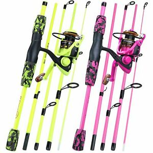 Fishing Rod And Reel Combos Spinning Set 5 Sections Travel Casting Lure Pole