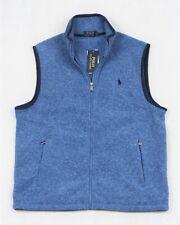 Polo Ralph Lauren Vest Fleece Soft Shell Full-Zip Blue Heather Size XL NWT