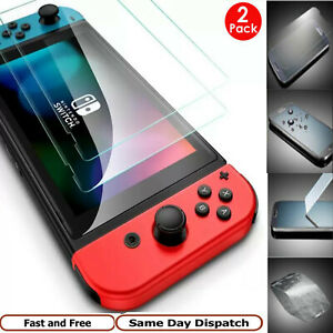 2 Pack Nintendo Switch Console Real Tempered Full Screen Protector Cover Glass