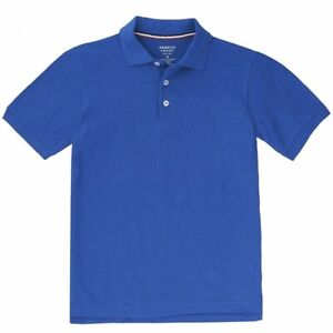 French Toast Boy's Short Sleeve Pique Polo Royal Blue Uniform Shirt
