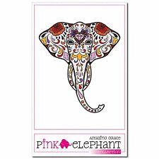 Savvy 01 - Aufkleber Sugar Skull 9 x 10 cm Dia de los muertos Elefant elephant